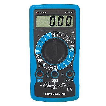 Multimetro Digital Minipa ET-1002 - MULTIMETRO MINIPA ET1002