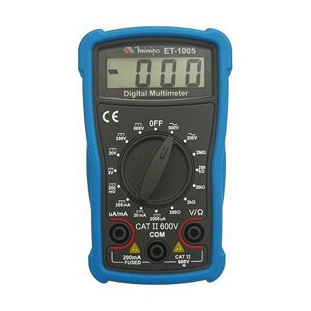Multímetro Digital Minipa ET-1005 - MULTIMETRO MINIPA ET1005