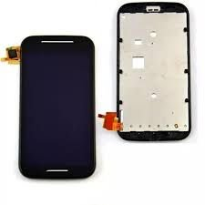 DISPLAY LCD MOTOROLA XT1022/XT1025 MOTO E COMPLETO COM ARO - PRETO