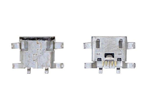 CONECTOR DE CARGA MOTOROLA XT1058 / XT1060 / XT1544 - MOTO X / MOTO E2  - MOTO G4 XT1600 PARA SOLDA NA PLACA