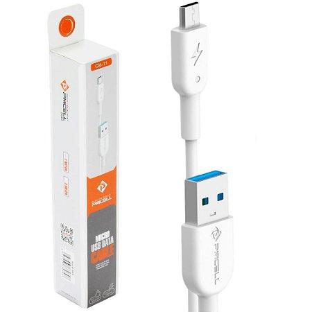 CABO DADOS / CARGA MICRO USB (V8) PMCELL CB-11 - 2 METROS