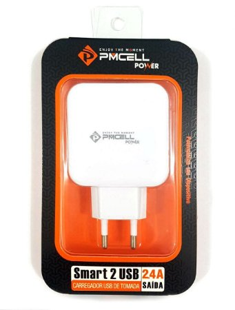CARREGADOR DE PAREDE PMCELL HC-21 COM 2 USB 2.4A / FONTE USB POWER SMART PMCELL