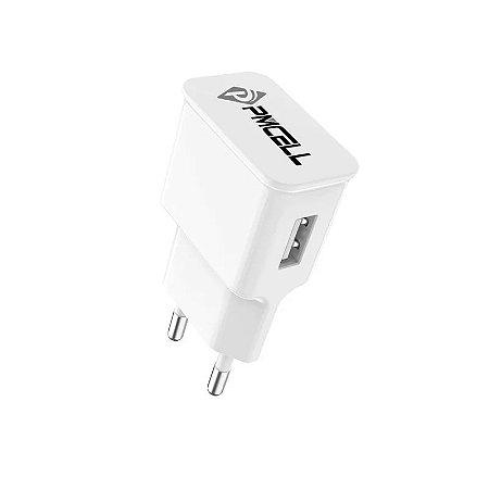CARREGADOR DE PAREDE PMCELL HC-13 COM 1 USB 1.5A