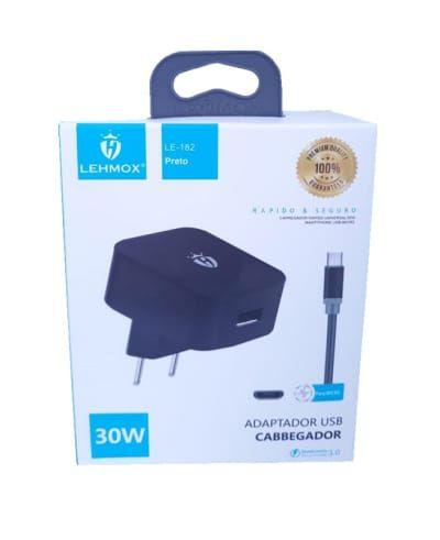 CARREGADOR TURBO  LEHMOX 3.0 MICRO USB (V8)