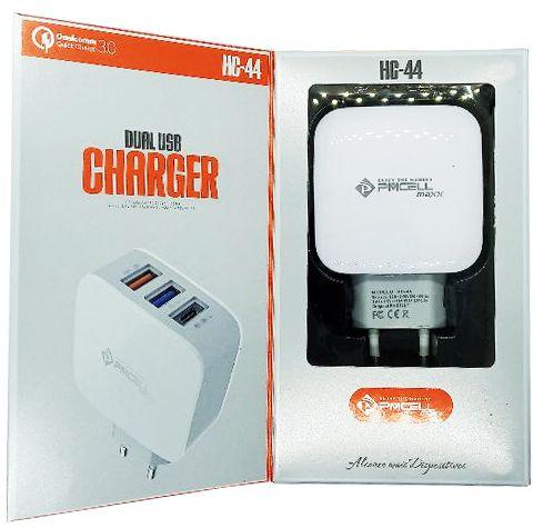 CARREGADOR DE PAREDE PMCELL HC-44 COM 2 USB / 1 TIPO C - 3A