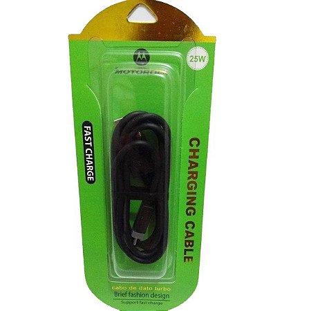 CABO USB MOTOROLA 25W PRETO TIPO C