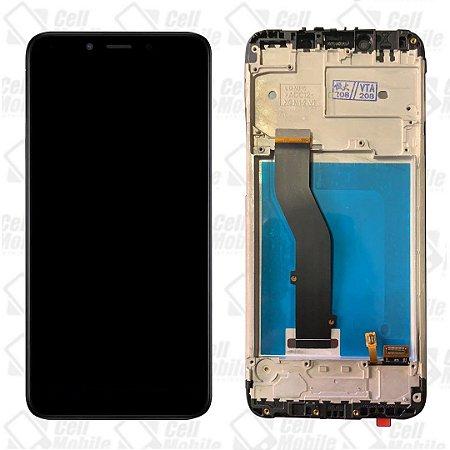 DISPLAY LCD LG K8 PLUS  PRETO COM ARO