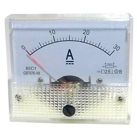 Amperímetro Analógico 30A DC SolarPro