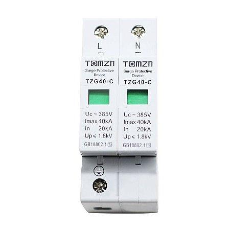 DPS Dispositivo de Proteção contra Surtos Bipolar 40kA 385V AC TOMZN