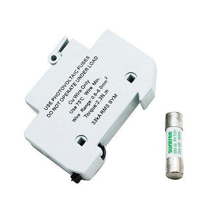 Porta Fusível + Fusível 15A 1000VDC Suntree