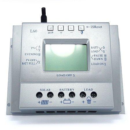 Controlador de Carga Solar 60A 12V/24V MPPT SunYoba