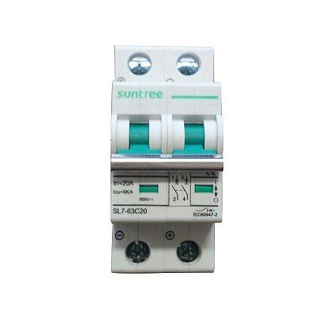 Disjuntor Bipolar 20A 800VDC Suntree