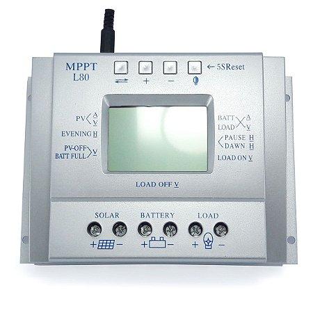 Controlador de Carga Solar 80A 12V/24V MPPT SunYoba