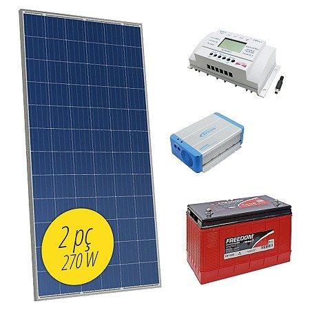 Gerador de Energia Solar OFF-Grid 0,52kW MPPT SunYoba - Sistema Isolado Completo