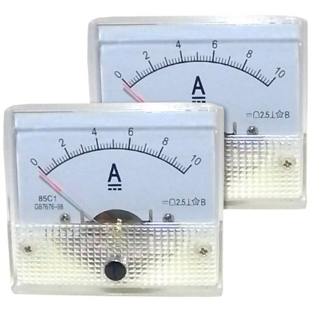 Par de Amperímetros Analógicos 10A DC SolarPro