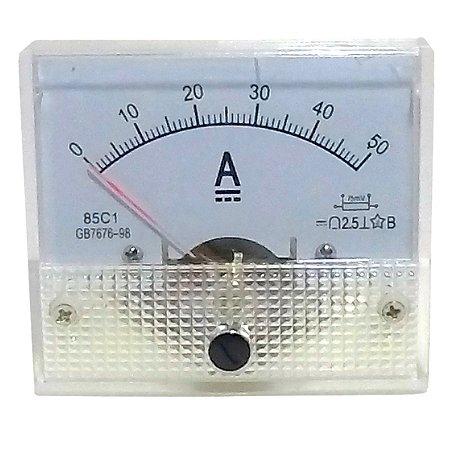 Amperímetro Analógico 50A DC SolarPro