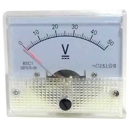 Voltímetro Analógico 50V DC SolarPro