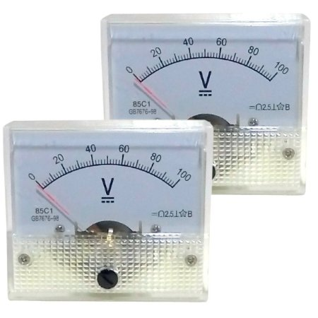 Par de Voltímetros Analógicos 100V DC SolarPro