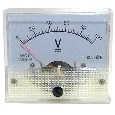 Voltímetro Analógico 100V DC SolarPro