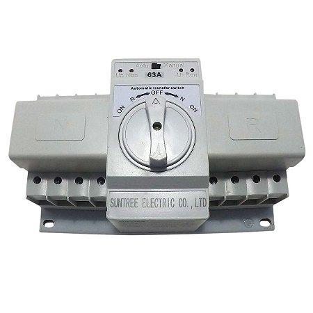 Chave de Transferência Automática 4 Polos 63A 380V SUNTREE