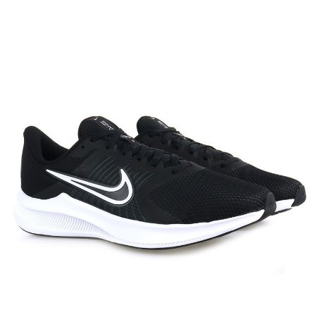 Tênis Nike Downshifter 11 Masculino - Preto+Branco