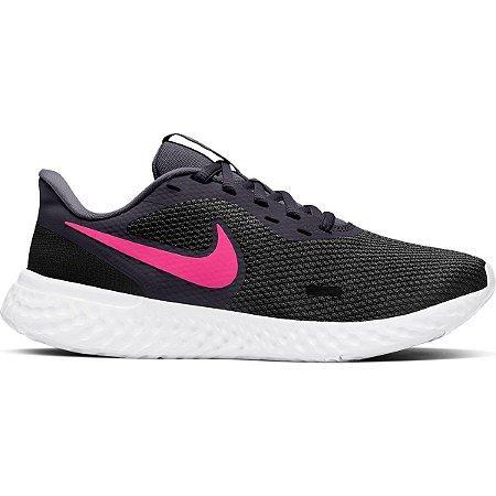 Tênis Nike Revolution 5 Feminino Preto e Pink