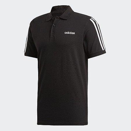 Adidas Camisa Polo 3-Stripes Preta