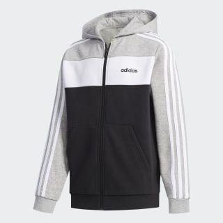 Jaqueta Adidas Capuz Colorblock Cinza