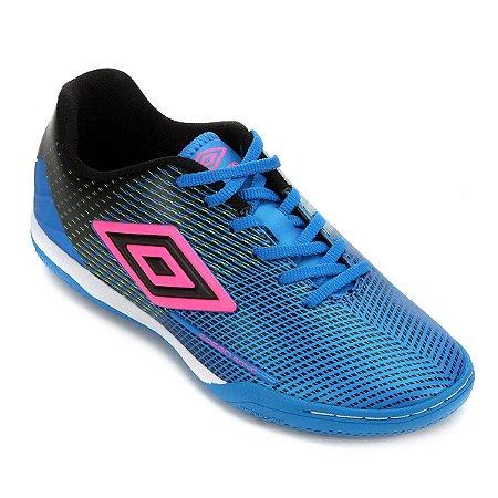 Chuteira Futsal Speed Sonic Umbro - Azul e Preto
