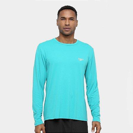 Camiseta Proteção UV Manga Longa Masculina - Verde