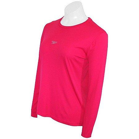 Camiseta Longa Speedo Proteção Solar Rosa