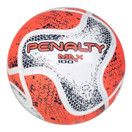 Bola Futsal Penalty Max 100 Term VIII - Branco e Laranja