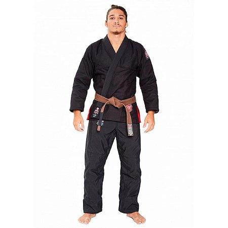 Kimono Jiu Jitsu Atama Trançado Ultra Light 2.0 - Preto