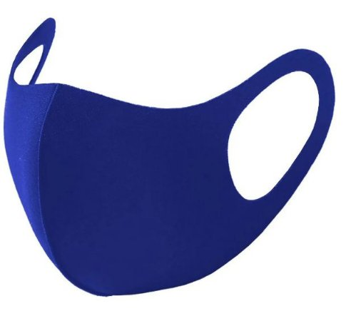 Máscara Poker Multiesportiva c/ Elastano Azul