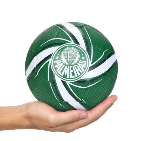Mini Bola Puma Palmeiras Fan - Verde e Branco