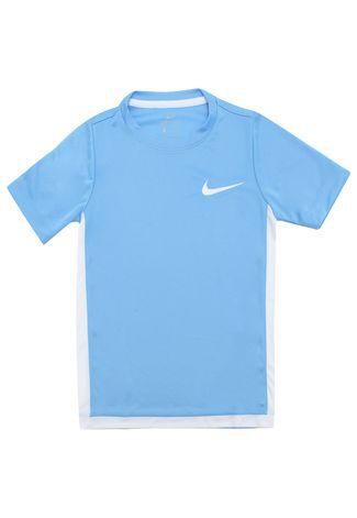 Camiseta Nike Menino Lisa Azul