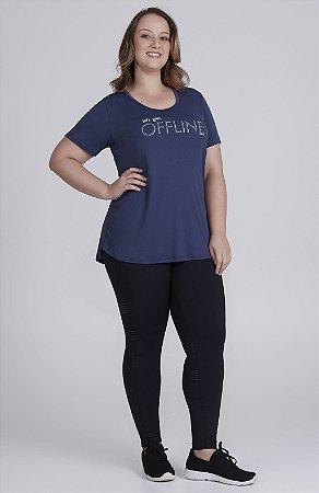 T-Shirt Alto Giro Plus Skin Fit Inspiracional
