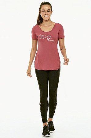 T-shirt Alto Giro Skin Fit Inspiracional Colors