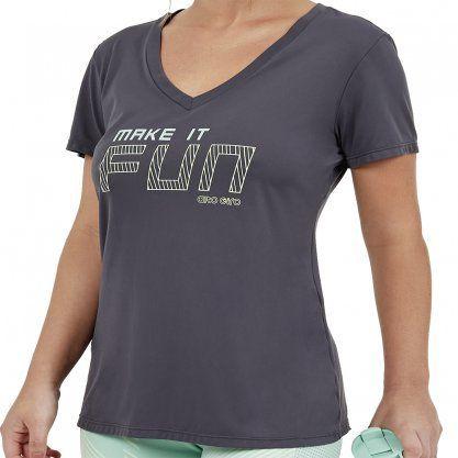 Camiseta Alto Giro Skin Fit Feminina 2011738-C5006