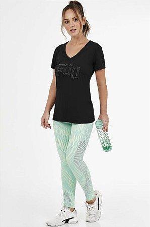 T-shirt Alto Giro Skin Fit Make It Fun