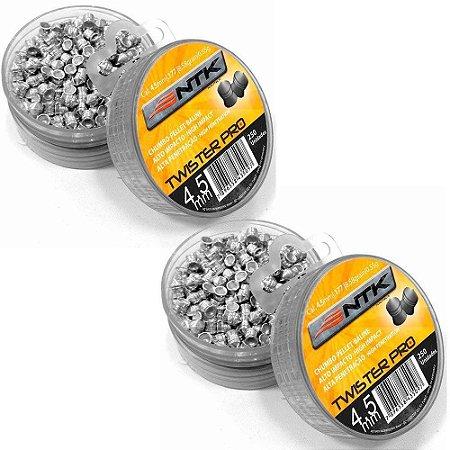 Chumbinho Nautika Tático Twister Pro 4.5 mm com 250 Unidades 2un