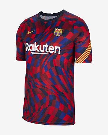 Camisa Nike Barcelona Pré Jogo 2020/21 Masculina