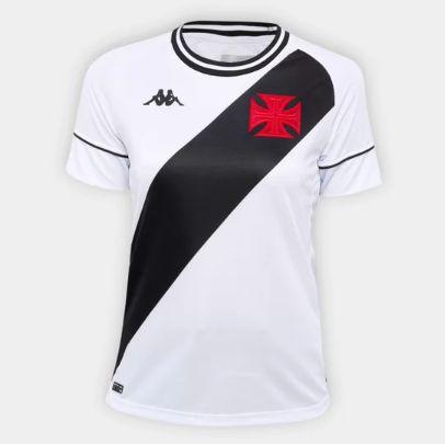 Camisa Vasco II 20/21 s/n° Torcedor Kappa Feminina - Branco e Preto