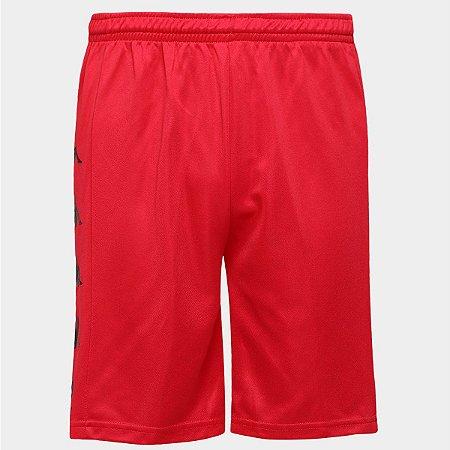 Calção de Futebol Kappa Long Masculino - Vermelho