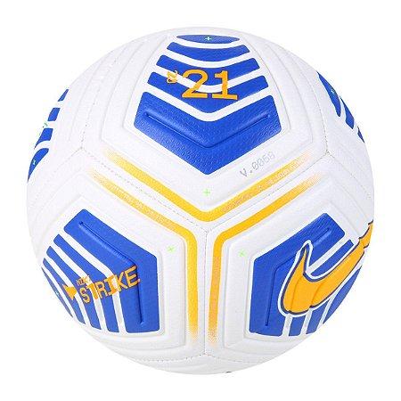 Bola de Futebol Campo Nike CBF Strike - Branco e Azul