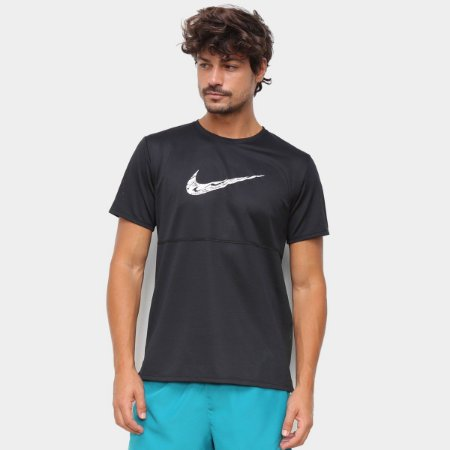 Camiseta Nike Breathe Run Masculina - Preto