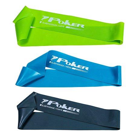 Kit com 3 Mini Bands Poker Leve/Média/Forte 600x50x 0.4/0.6/0.8mm