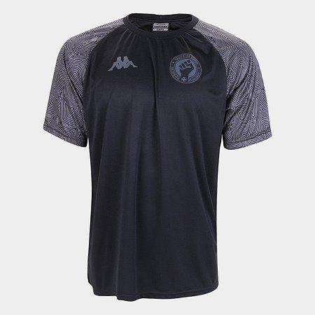Camiseta Vasco Respeito e Igualdade Masculina - Preto