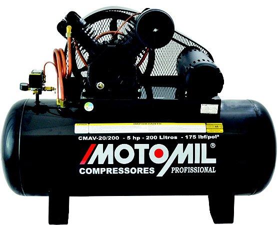 Compressor De Ar 5Hp Trifásico 20/200L - 220/380V
