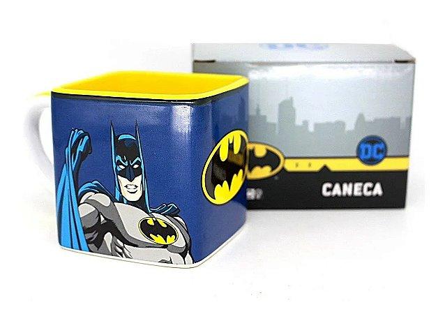 Caneca Cubo Batman De Cerâmica 300ML Zona Criativa